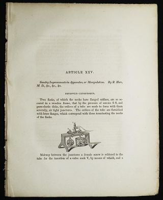 Sundry Improvements in Apparatus, or Manipulation by R. Hare [Transactions of the American...