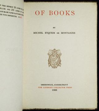 Of Books by Michel Eyquem de Montaigne