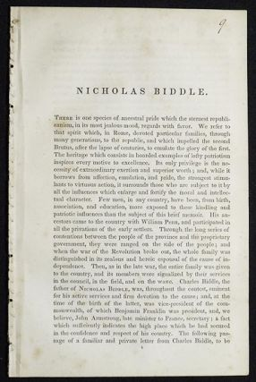 Nicholas Biddle [from The National Portrait Gallery of Distinguished Americans]. R. T. C