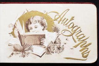 "Autograph Book ""Presented To Miss Ella J. Hartman, As a Christmas Present By Miss Ella J. Diefenderfer"" [Catasauqua, Allentown, and Fullerton, Pa.]"