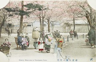 Japanese Postcard Album with Lacquered Cover and Hand-Colored Real Photo Postcards