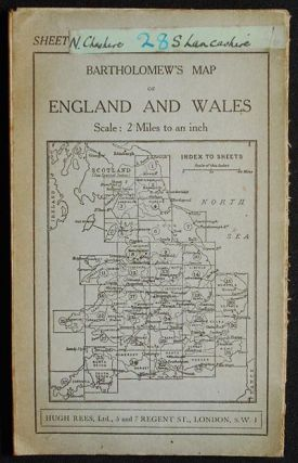 "Bartholomew's ""Half-Inch to Mile"" Map of England & Wales: Sheet 8 Merseyside [Liverpool to..."
