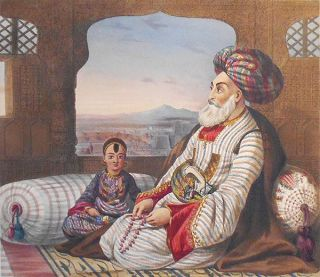 Dost Mahommed King of Caubul and His Youngest Son. James Rattray