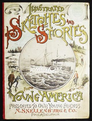 Advertising for N. Snellenburg & Co. [boards from Illustrated Sketches and Stories for Young America]