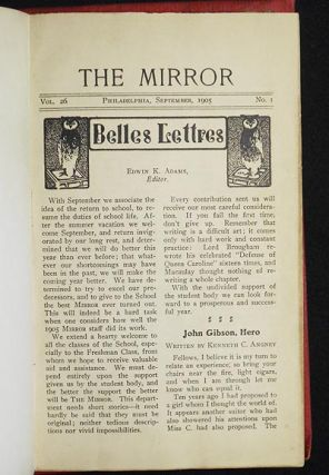 The Mirror vol. 26 nos. 1-10 Sept. 1905-June 1906 [Central High School, Philadelphia