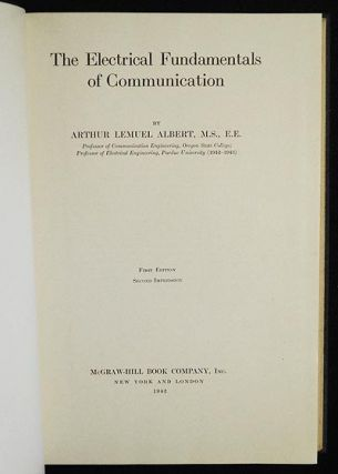 The Electrical Fundamentals of Communication