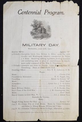 Centennial Program: Military Day Wednesday, June 20th, 1900