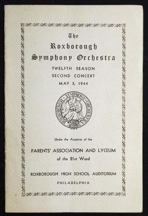 Roxborough Symphony Orchestra [program -- May 3, 1944]