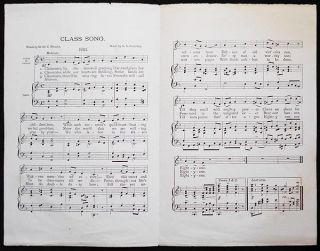 Class Song: 1881; Words by M. St. C. Wright; Music by G. A. Burdett [Harvard]. Merle St. Croix Wright, George Albert Burdett.