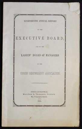 Nineteenth Annual Report of the Executive board, and of the Ladies' Board of Managers of the...