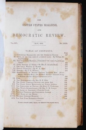 The Legal Wrongs of Women [in The United States Magazine, and Democratic Review Vol. 14 no. 71 May, 1844]