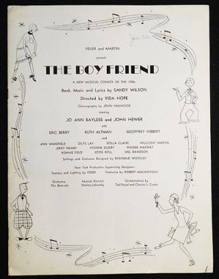 The Boy Friend: A New Musical Comedy of the 1920s [program