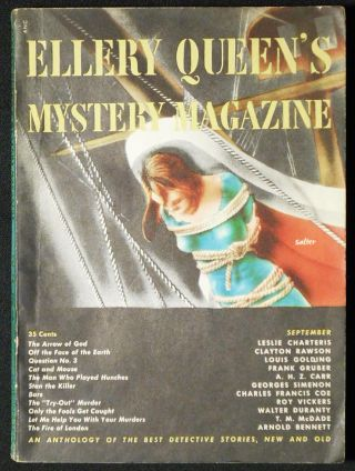 The Arrow of God [in Ellery Queen's Mystery Magazine vol. 14, no. 70 September 1949]. Leslie Charteris.