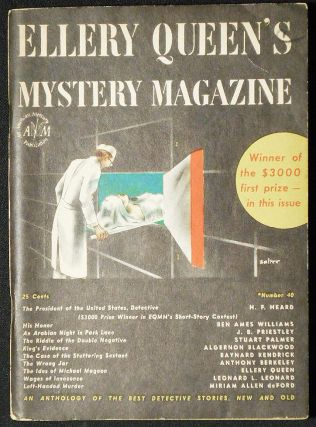 Left-Handed Murder [in Ellery Queen's Mystery Magazine vol. 9, no. 40 March 1947]. Miriam Allen de Ford.
