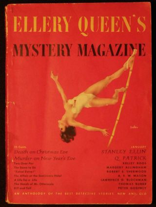 Two Over Par [in Ellery Queen's Mystery Magazine vol. 15, no. 74 January 1950]. Kelley Roos.