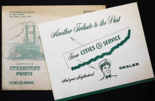 Antique Steamboat Prints: Another Tribute to the Past from Cities Service And your Neighborhood...