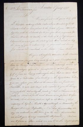 Handwritten letter to NYC merchant John Thurman, Jr.