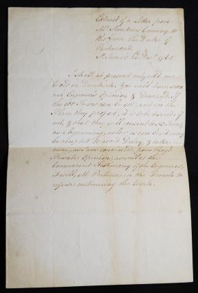 Extract of a Letter from Mr. Secretary Conway to His Grace the Duke of Richmond, St. James's,...