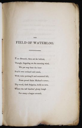 The Field of Waterloo: A Poem by Walter Scott