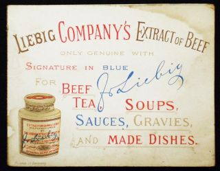 Liebig Company's Extract of Beef [pop-up advertising card