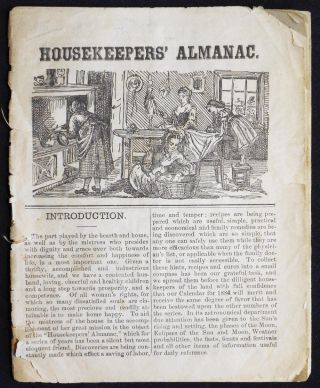 The Housekeepers' Almanac [for 1884