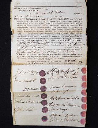 Assessment Roll of the Inhabitants of Monroe, Orange Co., N.Y., taken by Jeremiah Knight, Harrison Cornell, and Robert Wright, 1845