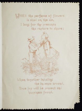 Artistically embellished late 19th-century card