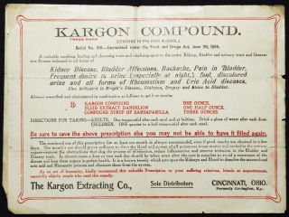 Kargon Compound Prescription