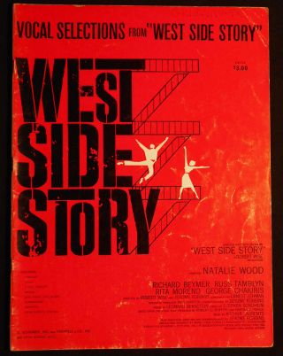 Vocal Selections from West Sidde Story; Lyrics by Stephen Sondheim; Music by Leonard Bernstein....