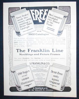 The Franklin Line Mouldings and Picture Frames [advertising flyer