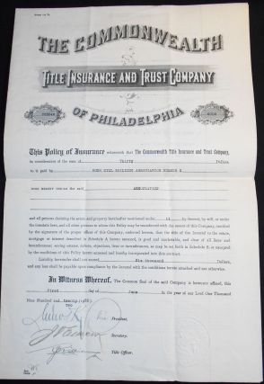 Commonwealth Title Insurance and Trust Company of Philadelphia Policy no. 223546