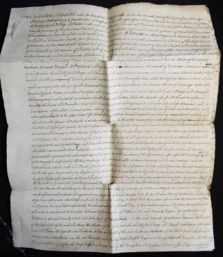 Handwritten true copy made in 1776 of the 1752 Tripartite Indenture relating to the Manor of...