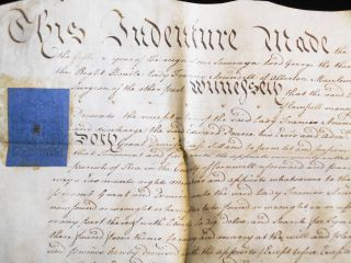 1765 Indenture between Lady Frances Arundell and Edward Pearce, Surgeon