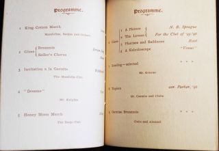 Brown Glee, Mandolin, Banjo Clubs [program] Complimentary Concert Given to the Alumni of Brown University -- Dec. 23, 1895 [at the home of John D. Rockefeller]