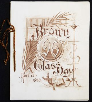 Brown Class Day, June 12th 1896 [program