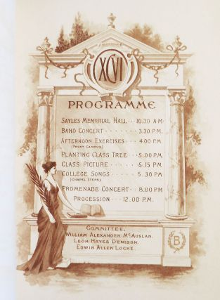Brown Class Day, June 12th 1896 [program]
