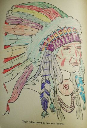 Real Indians to Color [coloring book]