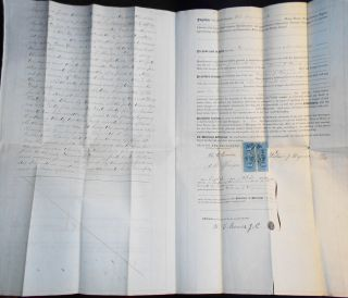 3 Documents relating to 32-Acre Tract in Montgomery Co., Pa., owned by Thomas H. England, 1864-1865