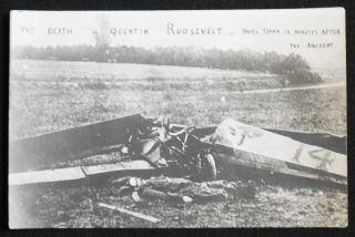 The Death of Quentin Roosevelt: Photo Taken 10 Minutes After the Accident [real photo postcard
