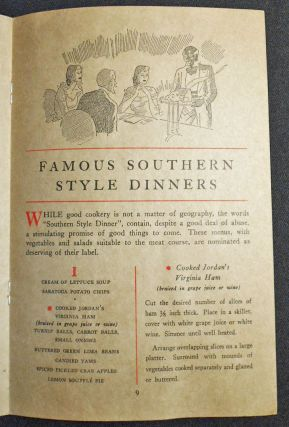 Plantation Cookery from Old Virginia featuring Virginia Ham
