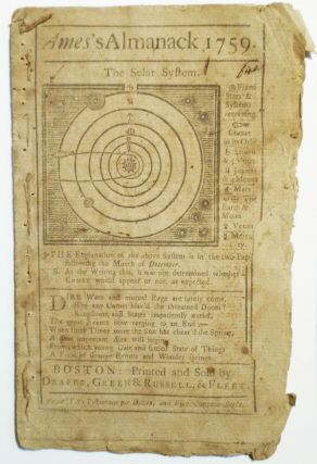An Astronomical Diary, or, An Almanack For the Year of our Lord Christ 1759 [Ames's Almanack 1759