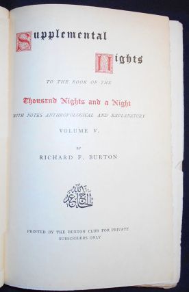 Supplemental Nights to The Book of the Thousand Nights and a Night -- vol. 5. Richard Francis Burton