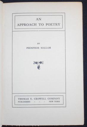 An Approach to Poetry. Phosphor Mallam