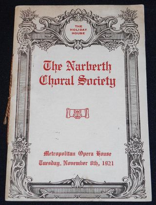 The Narberth Choral Society [with soprano Lucy Isabelle Marsh and violinist John Richardson