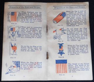 Etiquette of the Stars and Stripes Issued by the National Americanization Committee of the Veterans of Foreign Wars of the U.S.