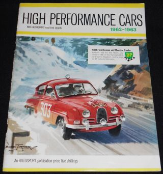 High Performance Cars 1962-1963; Edited by Gregor Grant and John Bolster; Technical Drawings by...