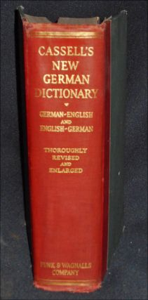 Cassell's New German and English Dictionary with a Phonetic Key to Pronunciation by Karl Breul;...