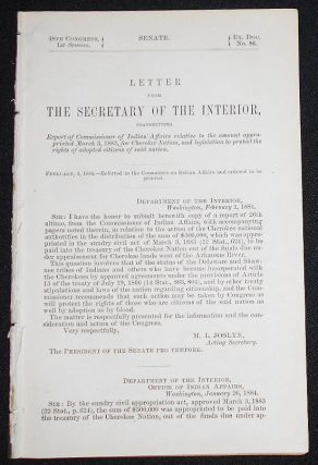 Letter from the Secretary of the Interior, Transmitting Report of Commissioner of Indian Affairs...