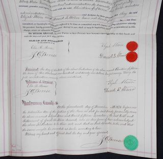 1875 Deed for Sale of Land by Elijah Stover and David S. Stover, executors of the will of Jacob K. Stover, to Christian S. Stover