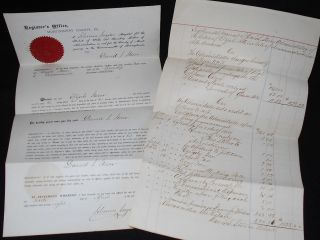 Estate of Elijah Stover: Letters of Administration 1878 and Supplemental Account of Administrator David S. Stover 1880